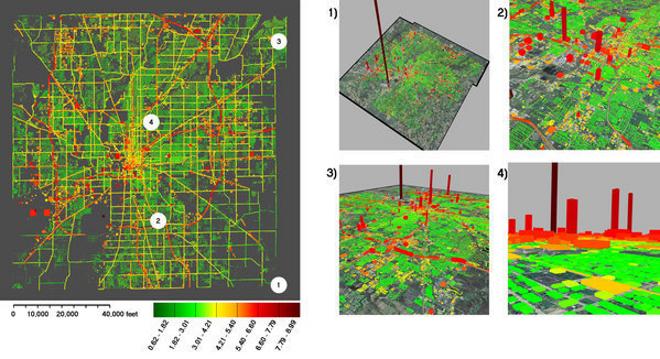 Mapas en 3D de las emisiones de carbono a tiempo real